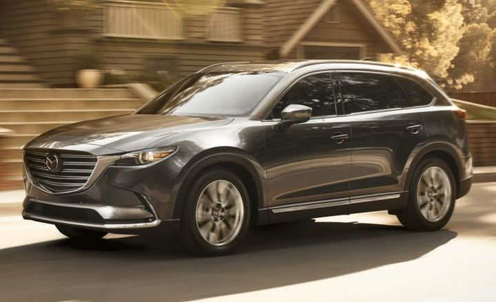 The automaker is recalling 2014-2015 Mazda CX-9 vehicles sold, or ever registered in several states. Pictured is the 2019-MY Mazda.