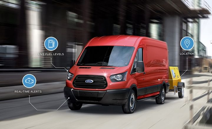 Leveraging the Ford open-platform TMC, FleetLocate for Ford enables mobile asset management and driver behavior monitoring, as well as delivering actionable insights to inform business decision making, without the need for aftermarket hardware.  - Photo courtesy of Ford.