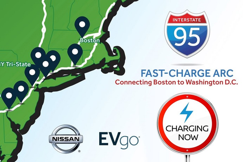 The I-95 ARC consists of nine EVgo DC Fast Charging stations equipped with 52 fast chargers in...