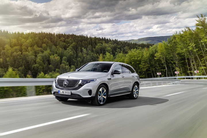 The EV offers a peak torque of 564 lb.-ft., it features an 80kWH lithium-ion battery, and has a top speed of 112 mph.  - Photo courtesy of Mercedes-Benz.