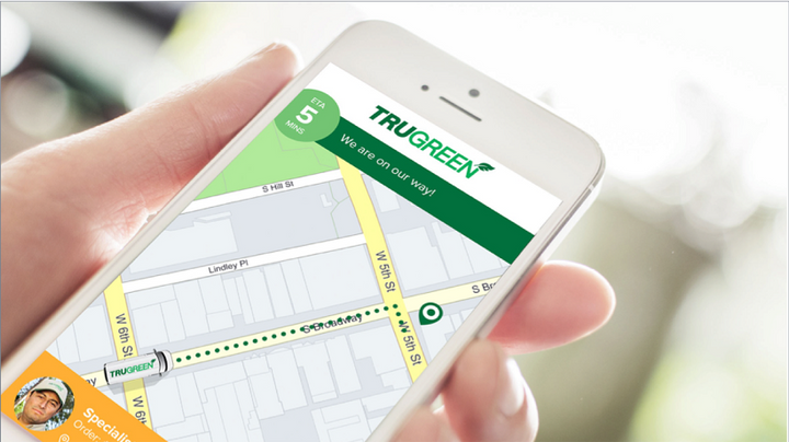 Glympse has integrated its technology with the Verizon Connect field service software platform on which the TruGreen app plans, delivers and executes its customer routes, tracks customer jobs and monitors the safety of its drivers.  - Photo courtesy ofGlympse.