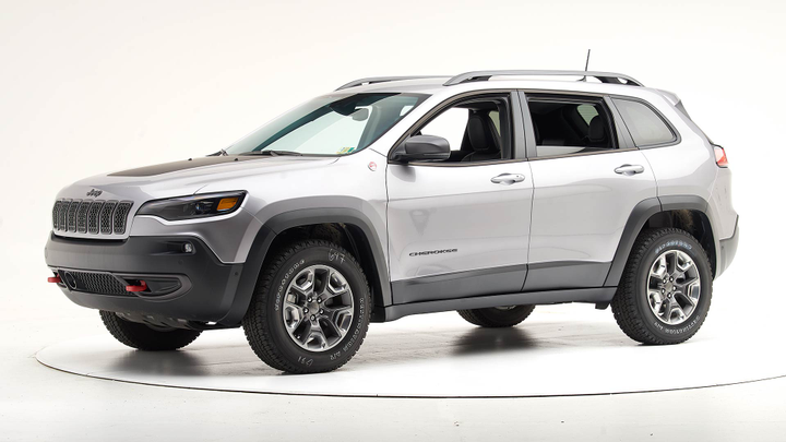 The Insurance Institute for Highway Safety notes that Top Safety status applies only to Jeep Cherokees built after April 2019. - Photo courtesy of IIHS.
