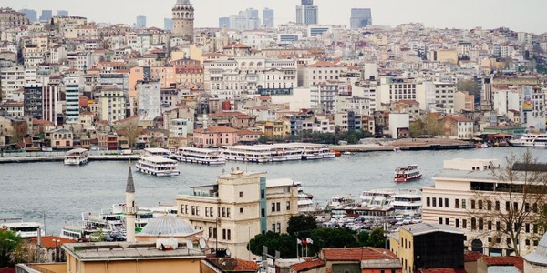 Commercial vehicle sales in Turkeytook a big hit from January to July. Pictured is Istanbul, a...