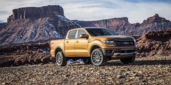 The Ranger will be available in three trim grades: XL, midlevel XLT, and a high-level Lariat...