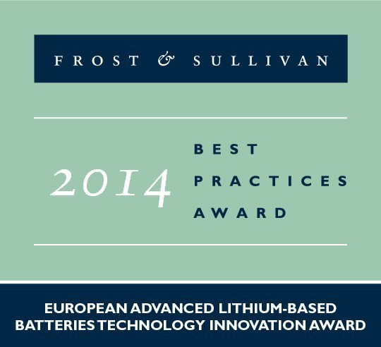Lithium-Sulfur Battery Recognized by Frost & Sullivan