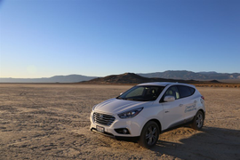 Hyundai's Tucson Fuel Cell Sets Land Speed Record