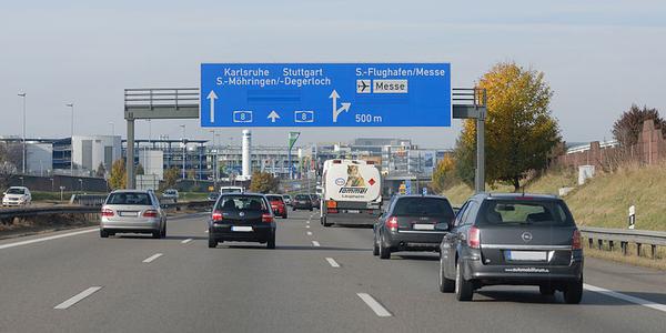 Photo of roadway in Stuggart courtesy of Jochen Teufel via Wikimedia Commons.