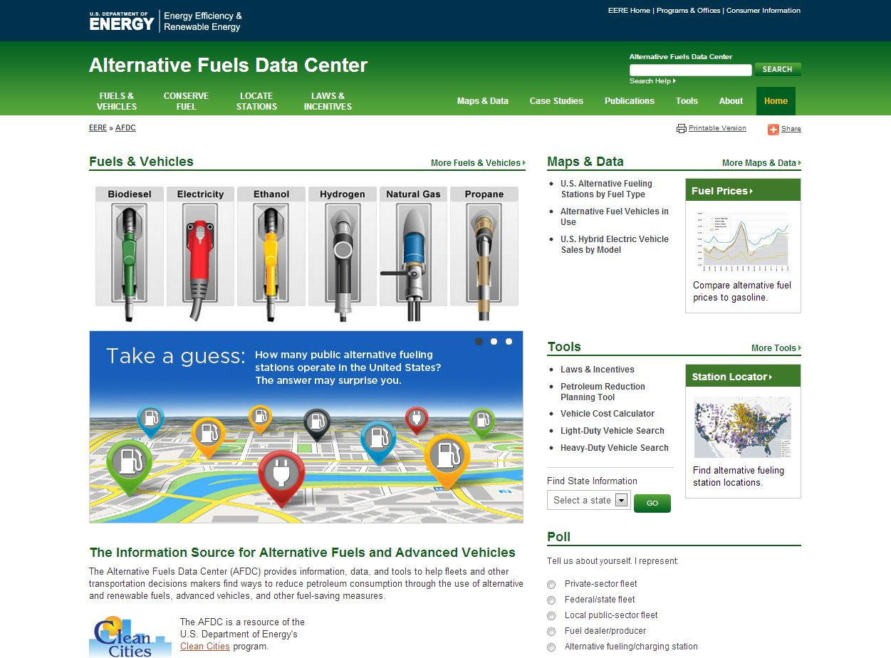 NREL and DOE Launch Online Alternative Fuel Tools for Fleet Managers