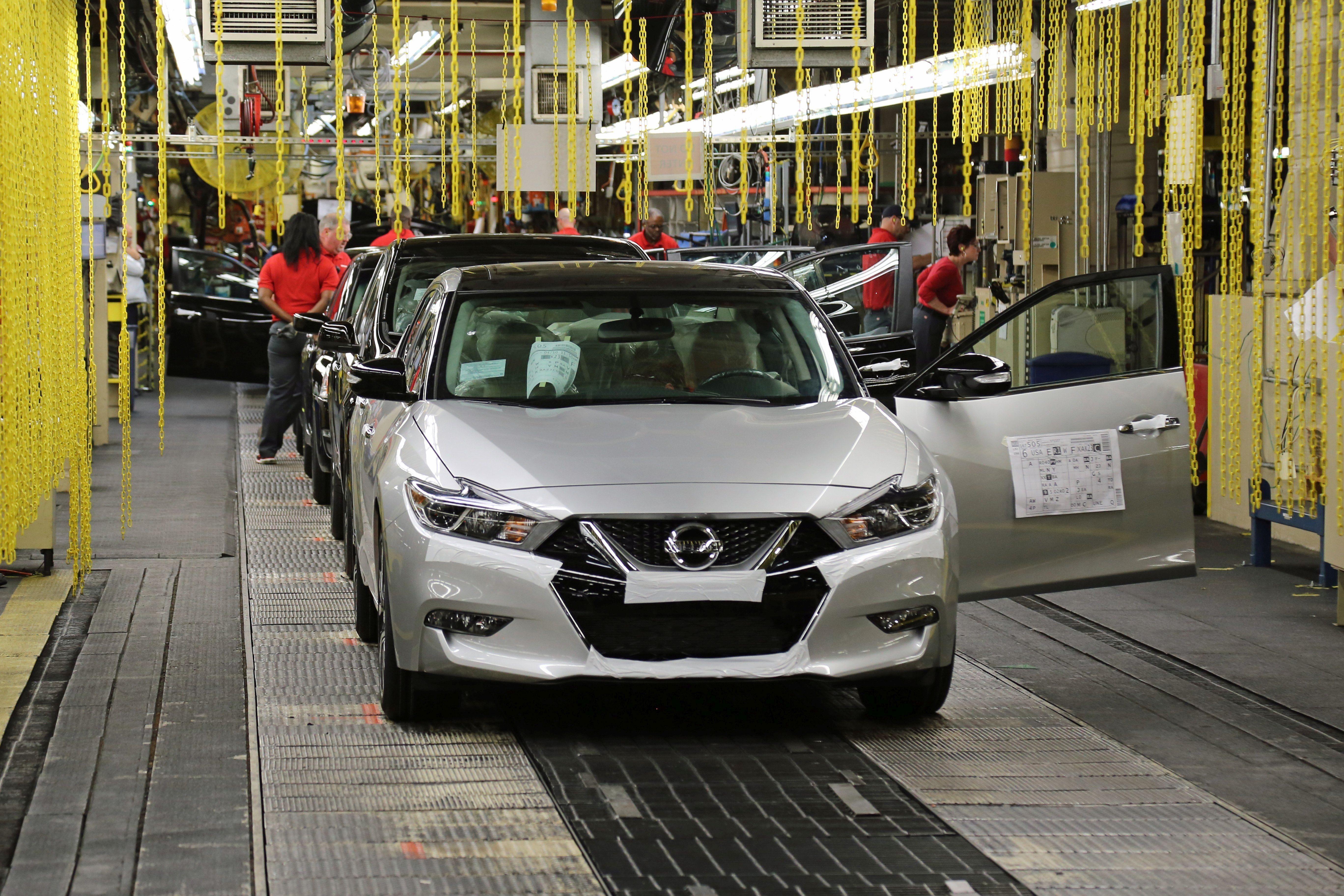 Nissan Begins Producing Redesigned Maxima Sedan