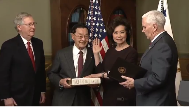 Chao Confirmed as Transportation Chief
