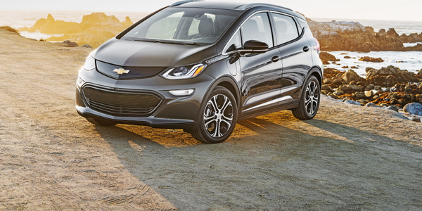 Photo of 2018 Chevrolet Bolt EV courtesy of GM.