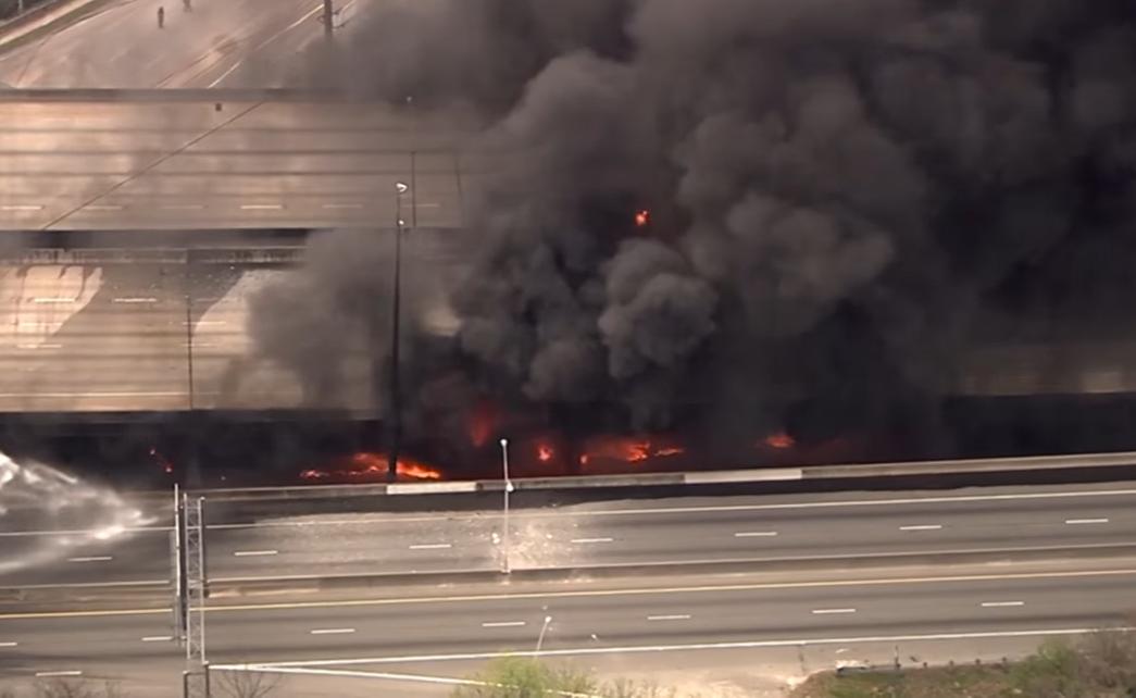 I-85 Collapse Causing Traffic Nightmare in Atlanta