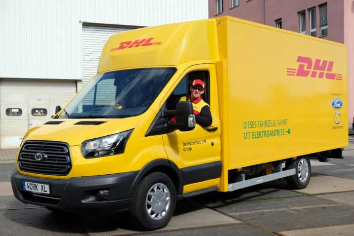 DHL Adds Electric Ford Transit Vans in Germany
