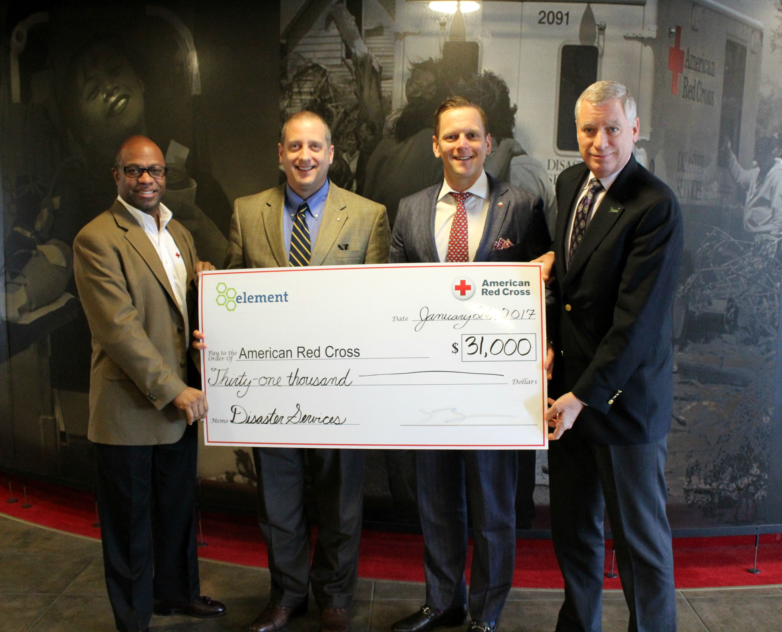 Element Donates to American Red Cross