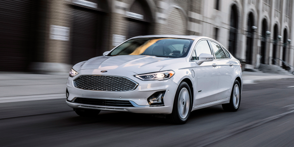Photo of 2019 Fusion mid-size sedan courtesy of Ford.