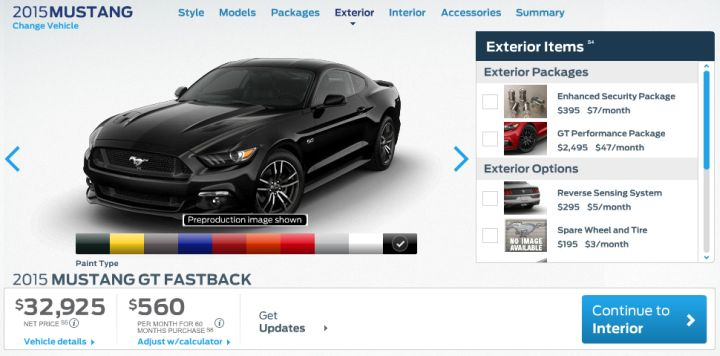 Ford Sets 2015 Mustang Pricing
