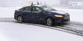 Ford's Autonomous Cars Navigate Snow-Covered Roads