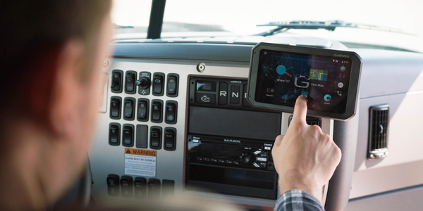 The Geotab Garmin ELD bundle includes the Geotab Cloud ELD, Garmin Fleet 790 tablet, HD dash...