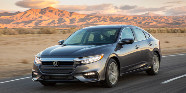 Photo of 2019 Insight hybrid courtesy of Honda.