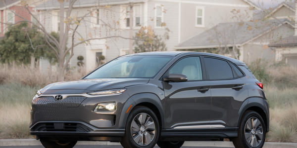 Photo of 2019 Kona Electric subcompact SUV courtesy of Hyundai.