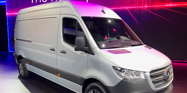 Photo of the new Mercedes-Benz Sprinter by Paul Clinton.