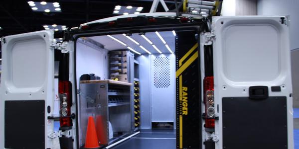 Photo of Ranger Design's shelving and flooring options by Lauren Fletcher.