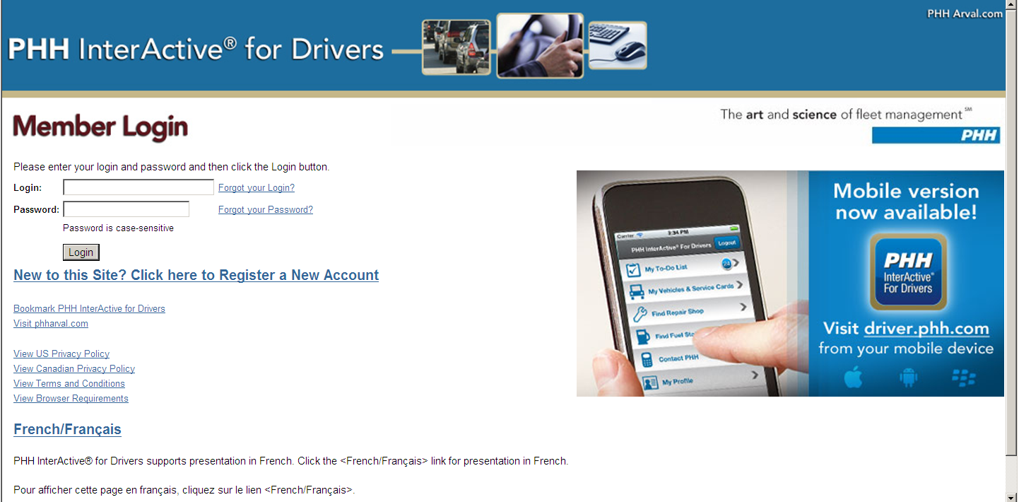 PHH Updates InterActive for Drivers Website