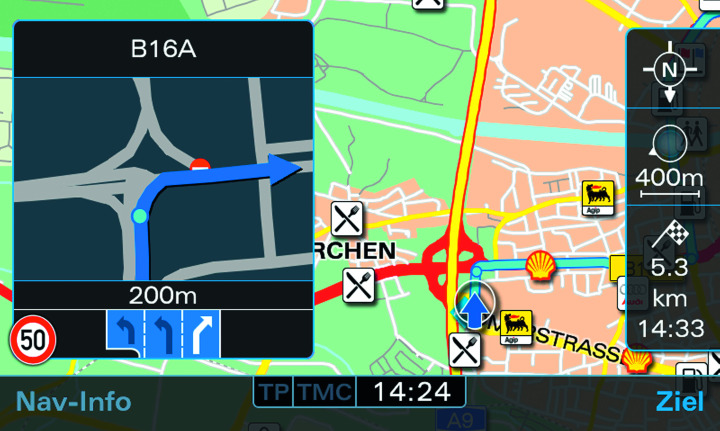 Updated Audi Navigation System Plus