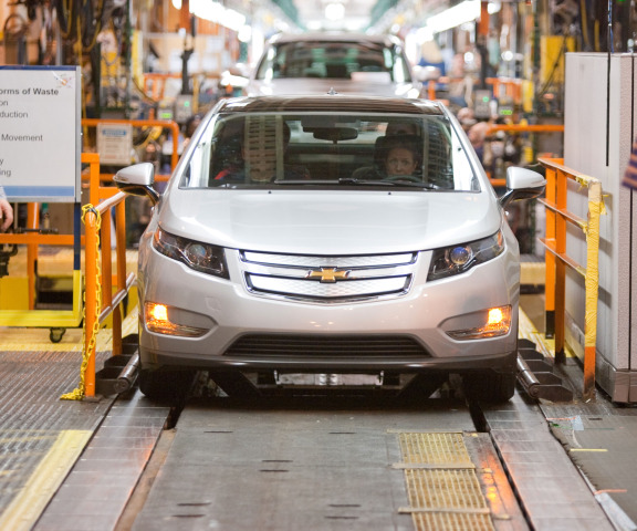 First Pre-Production Chevy Volt Rolls off Assembly Line