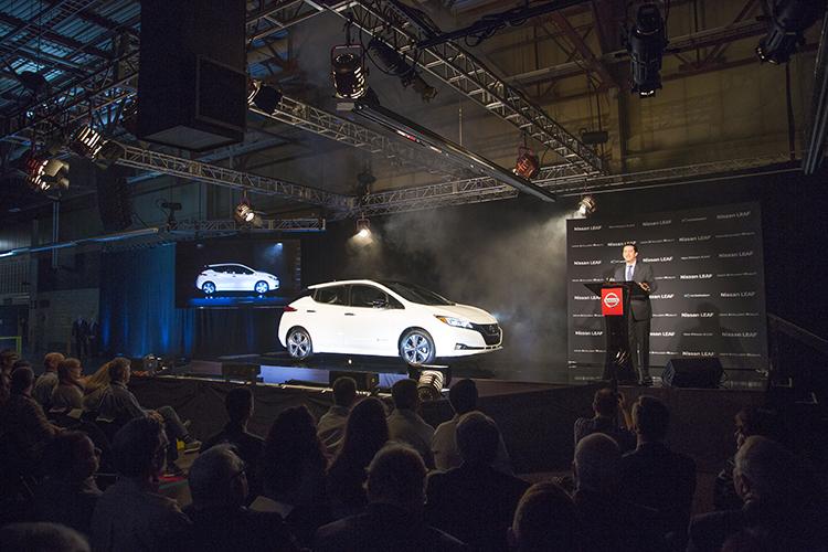 Nissan Begins 2018 Leaf Production