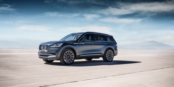 Photo of 2019 Lincoln Aviator courtesy of Ford.