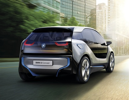 A rear-view of BMW's new i3 concept.