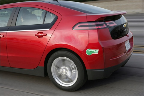 Chevrolet Volt with clean air sticker