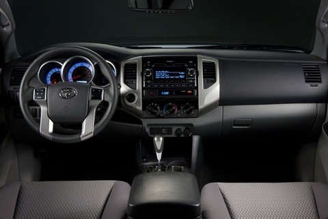The 2012-MY Tacoma features a redesigned instrument panel.