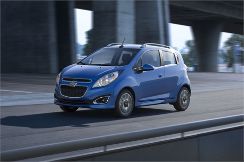 The 2013-MY Chevrolet Spark.