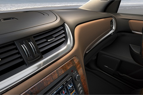A teaser of the 2013-MY Chevrolet Traverse's interior.