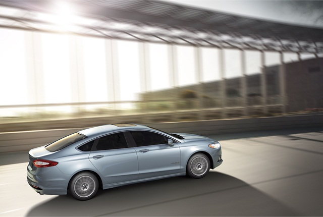 The 2013-MY Ford Fusion Hybrid.