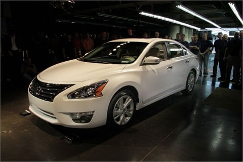 The 2013-MY Nissan Altima rolls off the assembly line in Smyrna, Tenn.