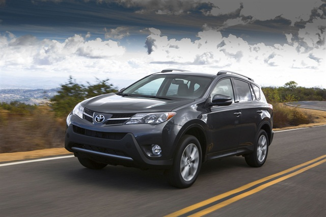 The 2013-MY Toyota RAV4 starts at an MSRP of $23,300. Photo courtesy Toyota.