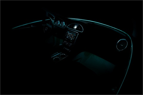 A rendering of the redesigned Buick Enclave's interior.