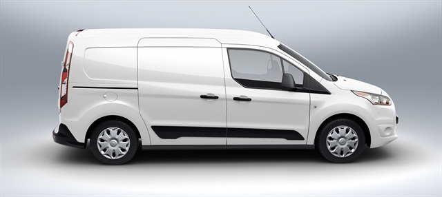 Shown here is the long wheelbase version of the Transit Connect Van, the cargo version of the all-new Transit Connect.