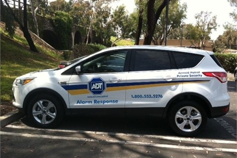 One of the new 2013-MY Ford Escape vehicles that ADT is using for its patrol fleet.