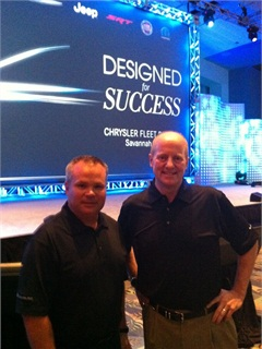 Jim Sassorossi (left) and Pat Dougherty (right), at the Chrysler 2013-MY Fleet Product Preview. Photo by Mike Antich.