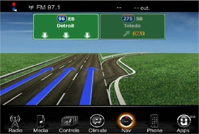 Navigation activation is possible on vehicles equipped with specific Uconnect systems. Photo courtesy Chrysler.