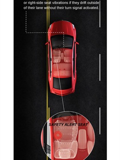 Drivers can receive left or right-side seat vibrations if they drift outside of their lane without their turn signal activated.