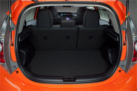 The cargo area offers 17.1 cu. ft. of space.