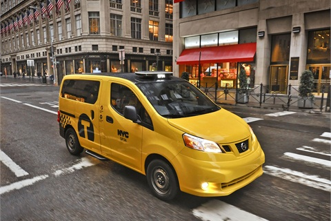 "The Nissan NV200 ""Taxi of Tomorrow."""