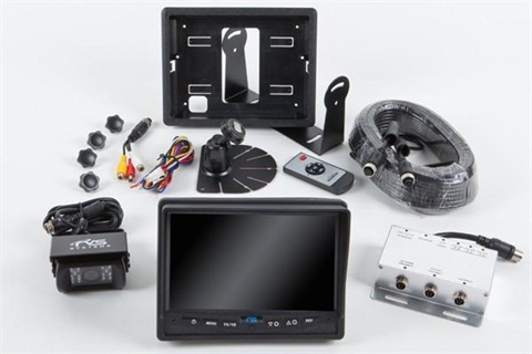 Rear View Camera System One Camera Setup with Flushmount Monitor
