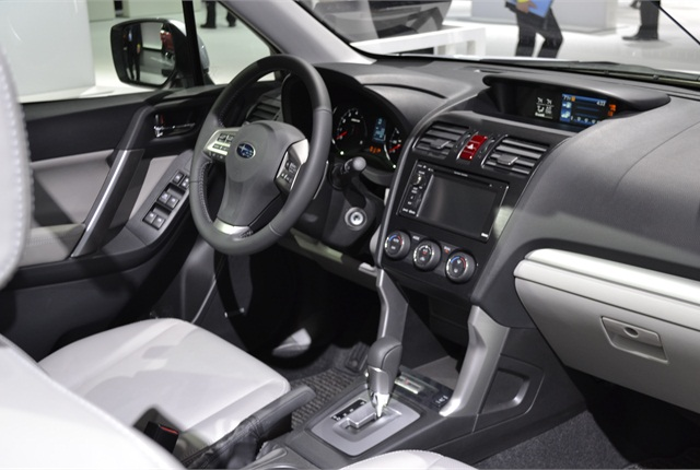 Subaru offers an optional touch screen navigation system that provides smartphone integration. The Touring model comes with navigation as standard.