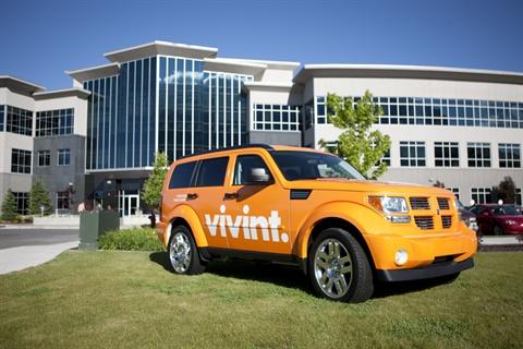 One of Vivint's new Dodge Nitro fleet vehicles.